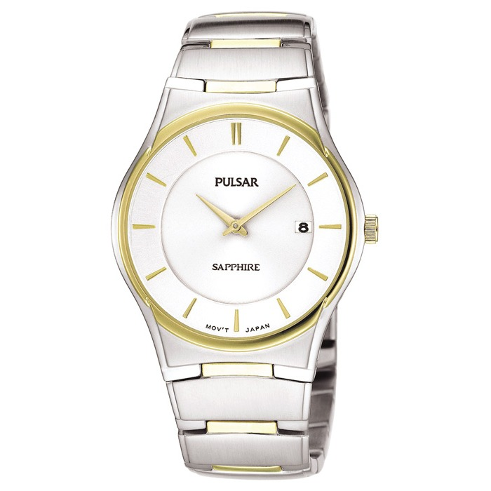 Men's Pulsar 2-Tone Dress Watch - Sapphire Crystal