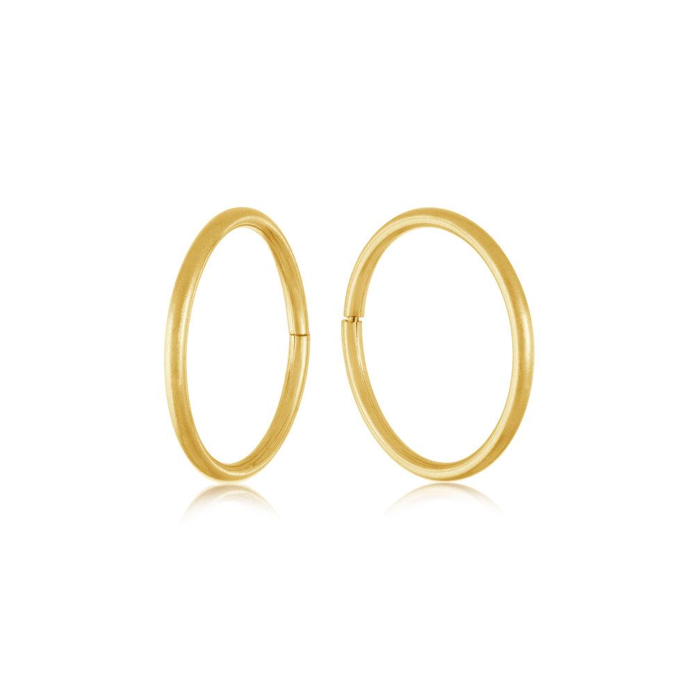 Boucles d'oreilles dormeuses de 11mm - Or jaune 10K