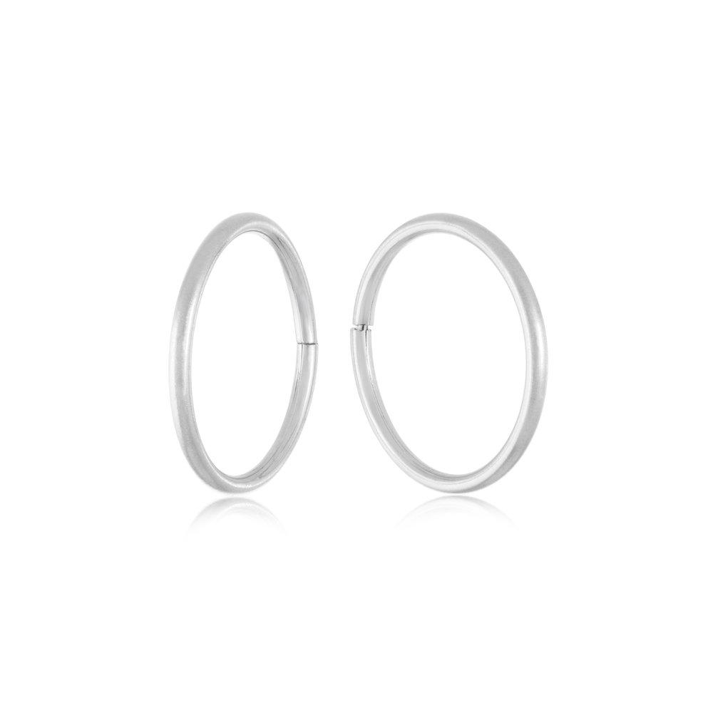 Boucles d'oreilles dormeuses de 11mm - Or blanc 10K