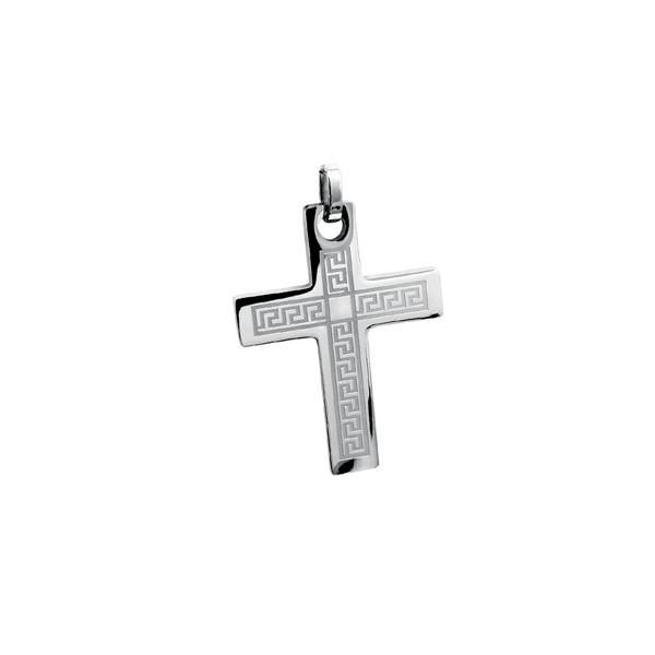 Pendentif croix - Acier inoxydable