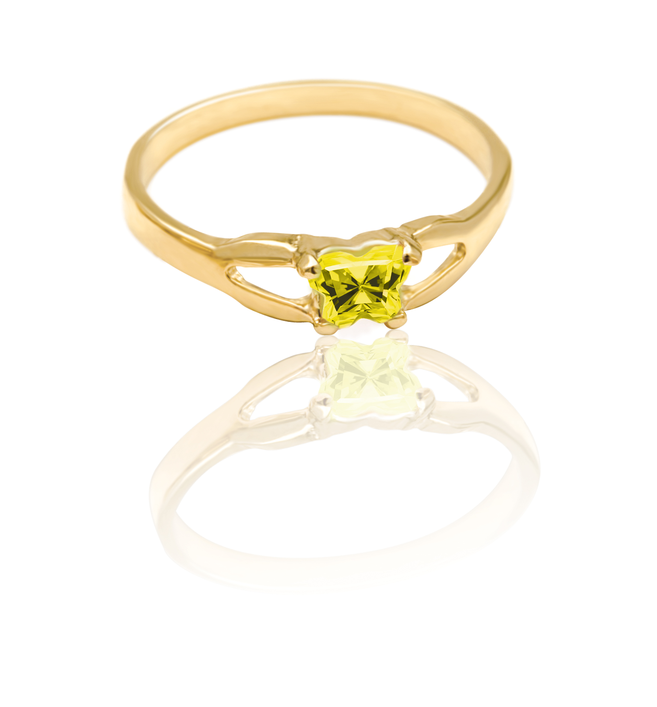 ring for child - 10K yellow Gold & Yellow cubic zirconia (month of November)*