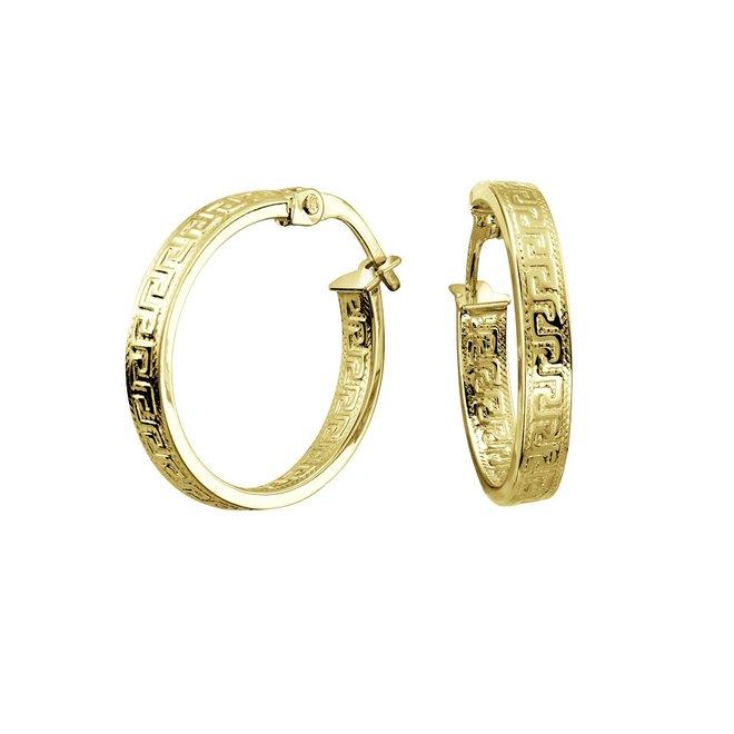 Boucles d'oreilles anneaux - Or jaune 10K