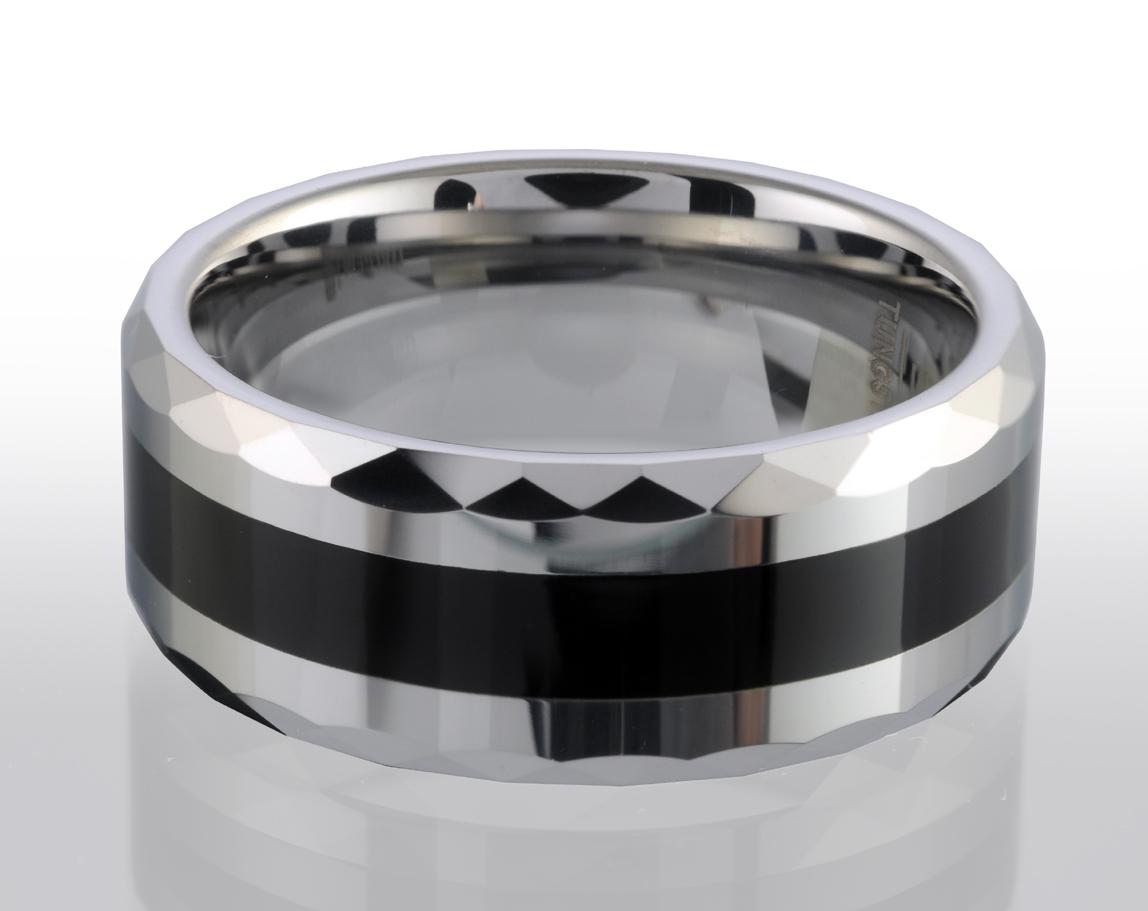 Band for men - Tungsten & Ceramic