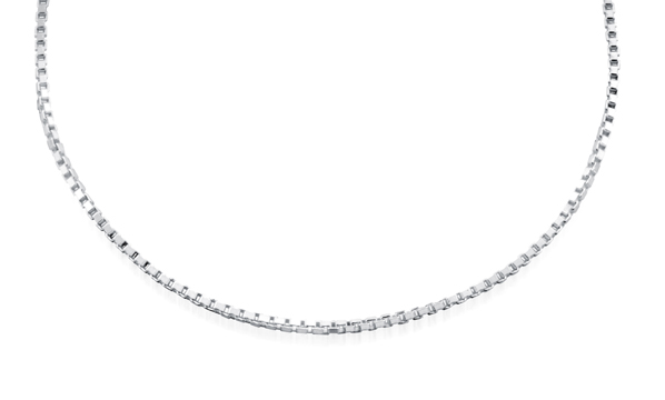 18'' Box Chain for ladies - Sterling Silver