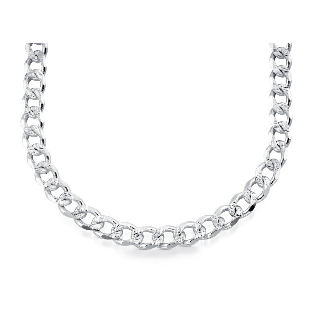 18'' Curb chain - Sterling silver