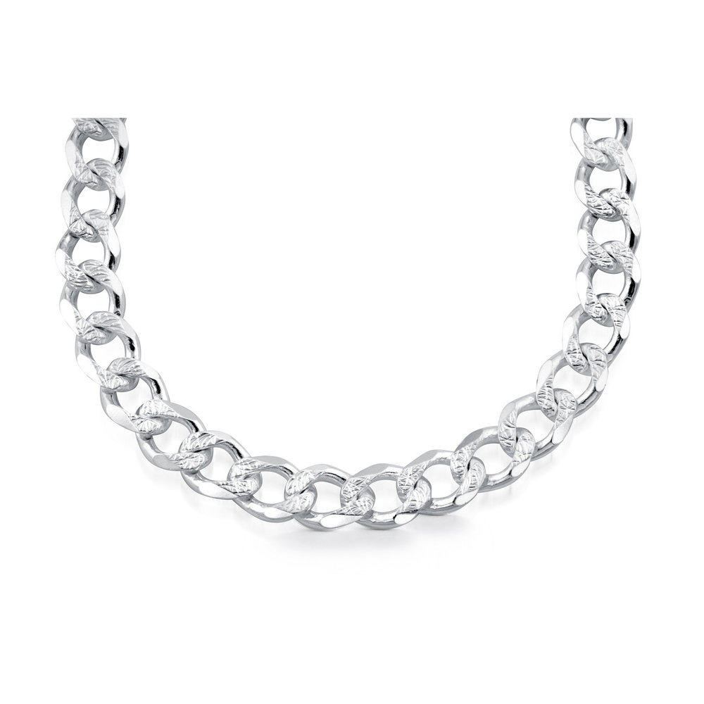 20'' Curb chain for men - Sterling silver