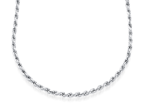 24'' Rope chain for ladies - Sterling silver