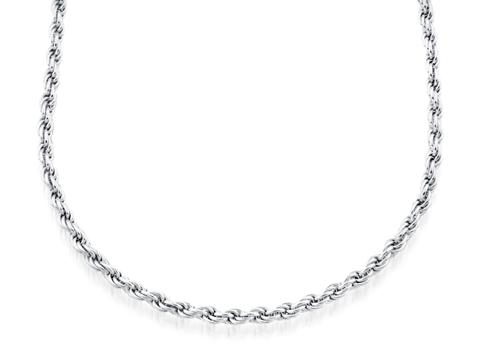 Bracelet torsade 7'' - Argent sterling