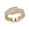 Ring for woman - 10K 2-tone Gold & Cubic zirconia