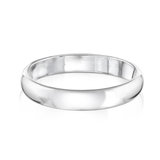 Men's polished band in sterling silver