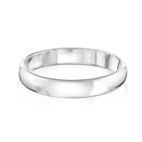 Woman's polished band in sterling silver