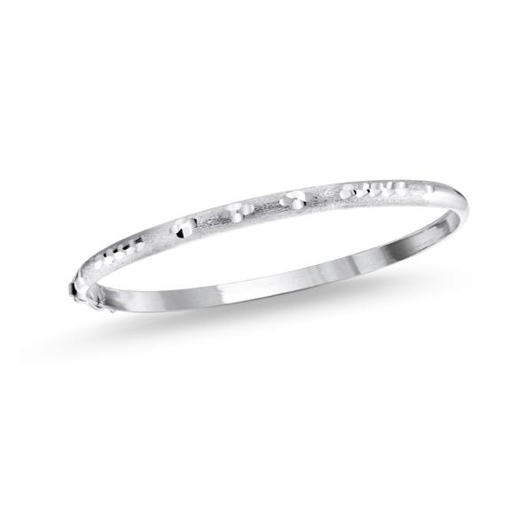 Bracelet rigide semi-rond - Argent sterling