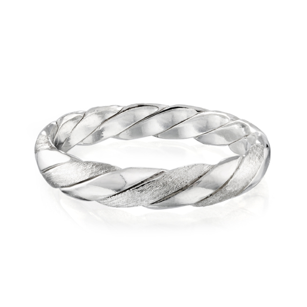 Women's Braided Band in Sterling Silver
