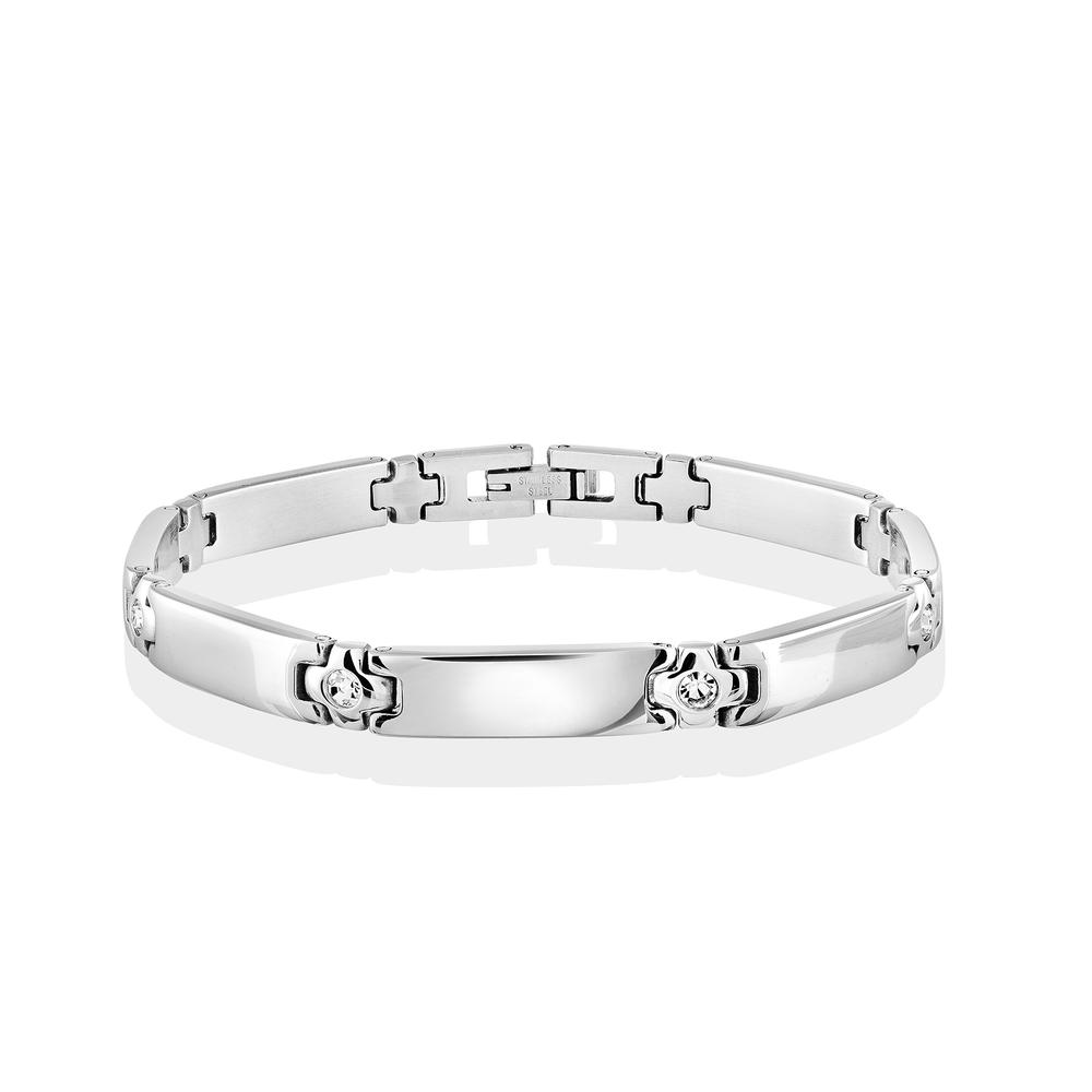 Bracelet pour dame - Acier inoxydable & Zircons cubiques