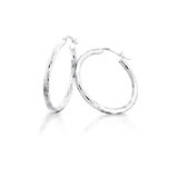 Boucles d'oreilles anneaux pour dame - Argent sterling