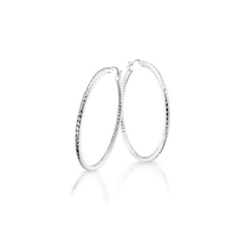 Boucles d'oreilles anneaux -  Argent sterling