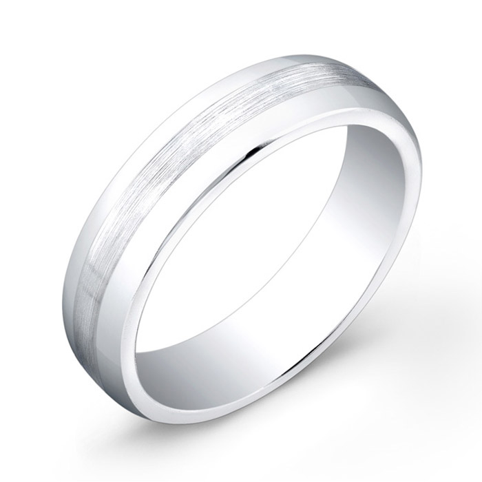 Band with a satin-finished center - Cobalt-Chrome