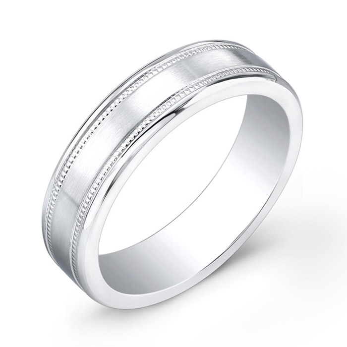 Band with milligrain sides - Cobalt-Chrome