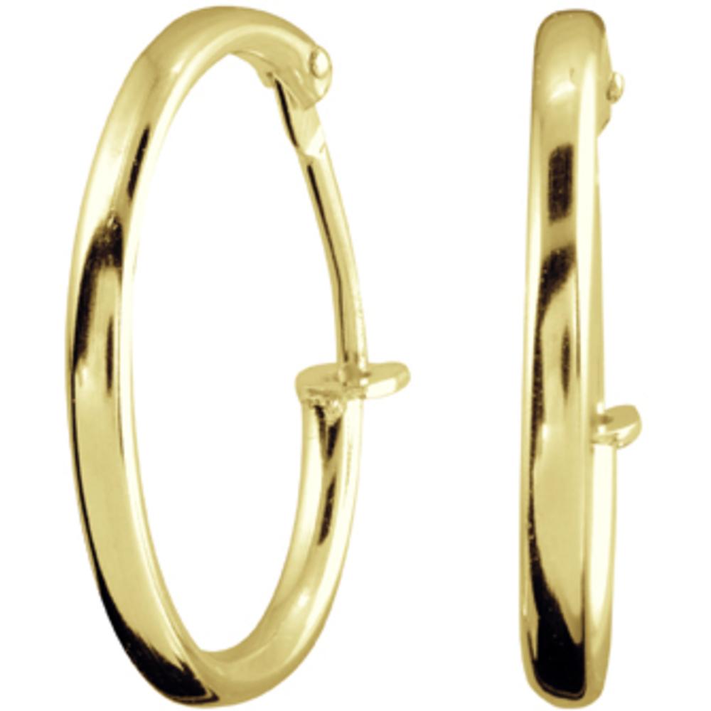 Boucles d'oreilles anneaux pour enfants - Or jaune 14K