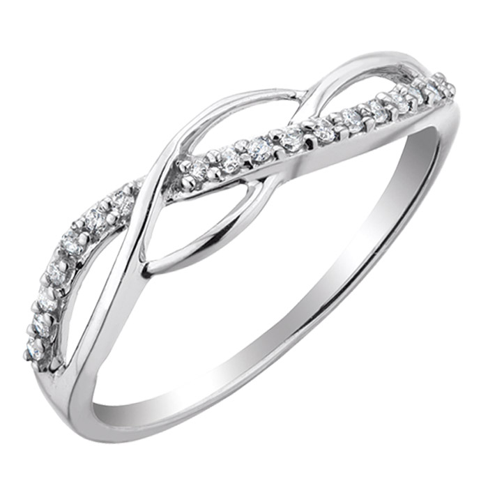 Ring in sterling silver with diamonds 0.10 Carat T.W.