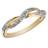 Ring with diamonds 0.03 Carat T.W. - In 10K yellow gold