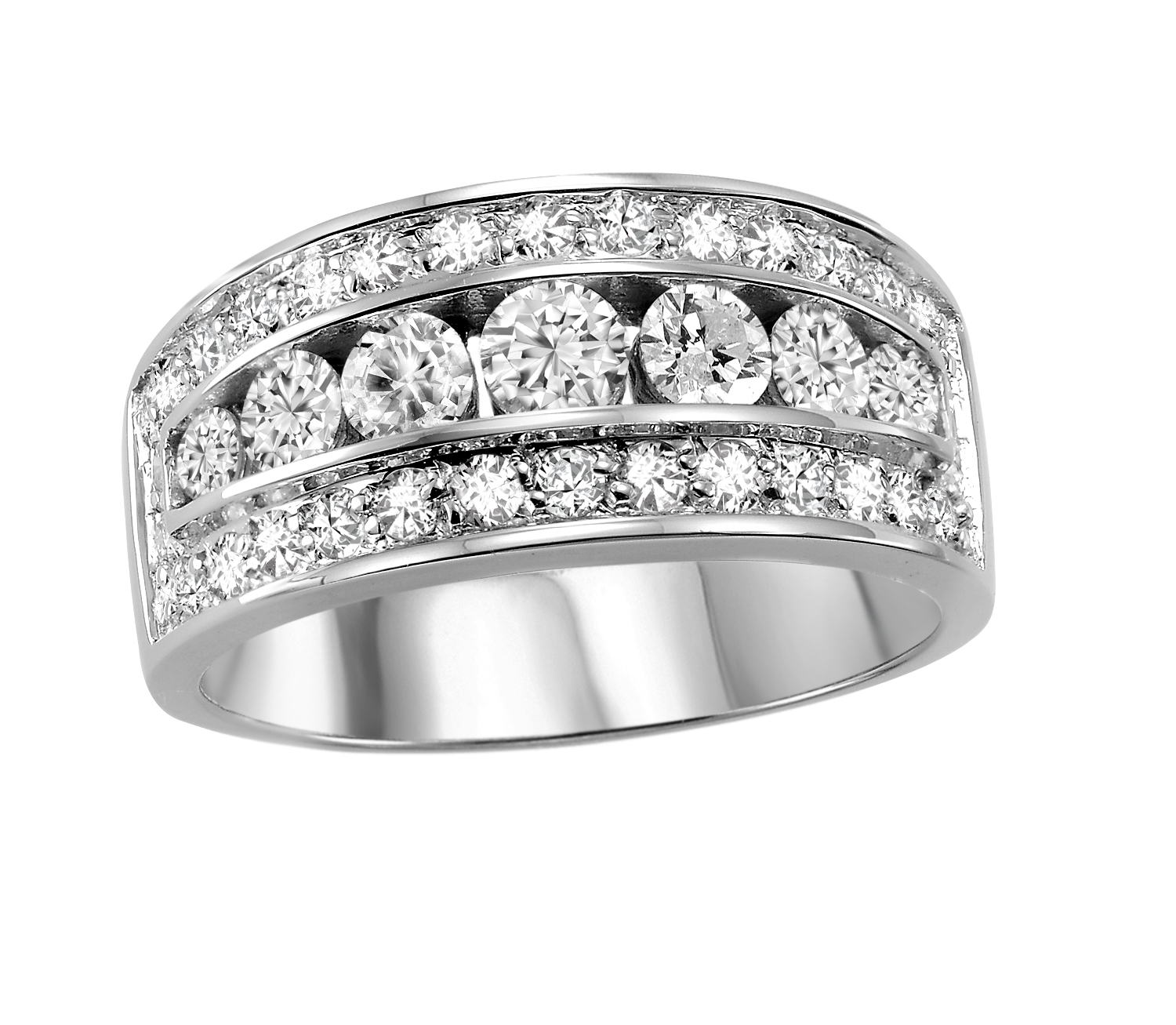 Anniversary ring for woman - 14K white Gold & Diamonds