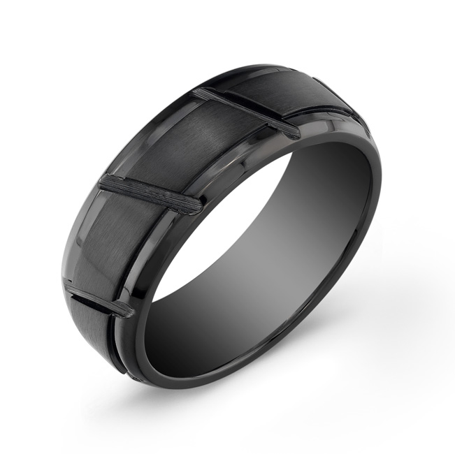 Men's band - Black stainless steel