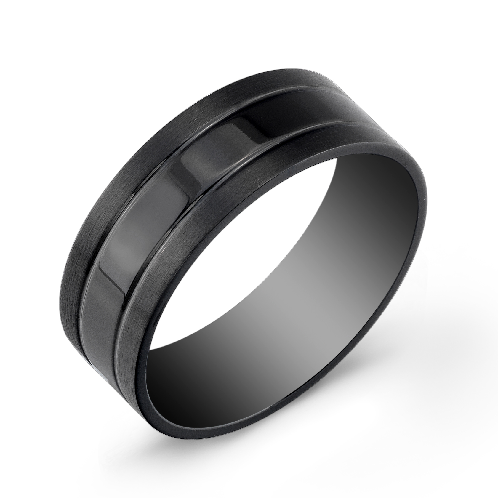 Band for man - Black stainless steel
