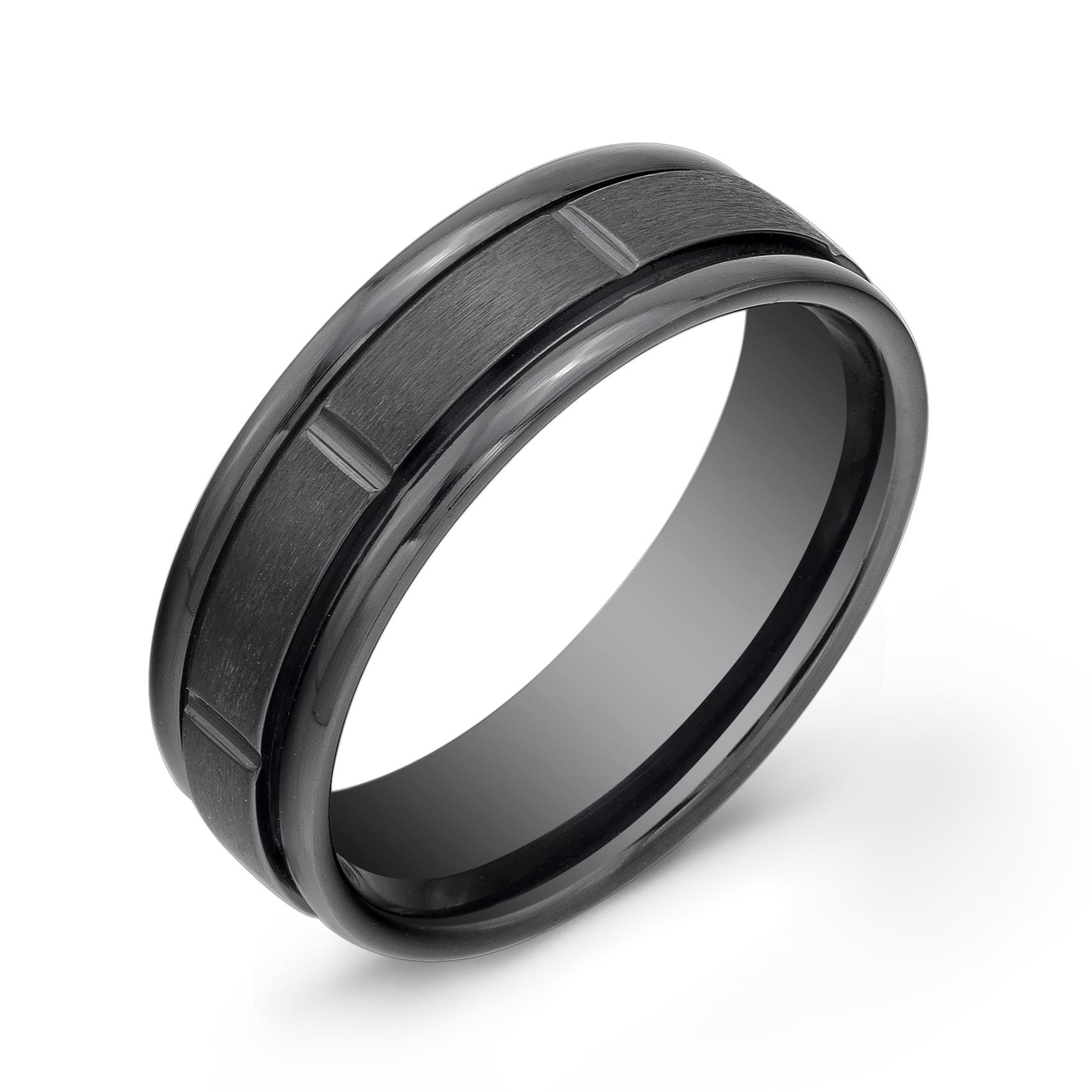 Men's band - Black titanium