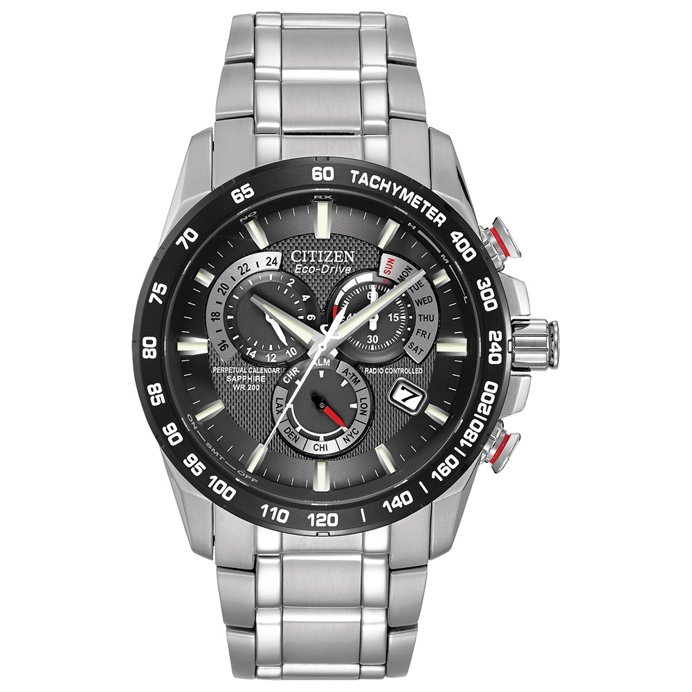 Eco-Drive watch for men - Stainless steel