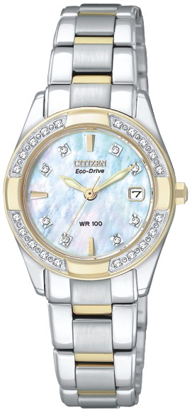 Eco-Drive watch for women - Stainless steel.