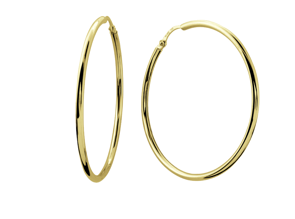 Hoop earrings for babies - 10K yellow Gold