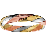 Braided band for man - 10K 3-tone Gold