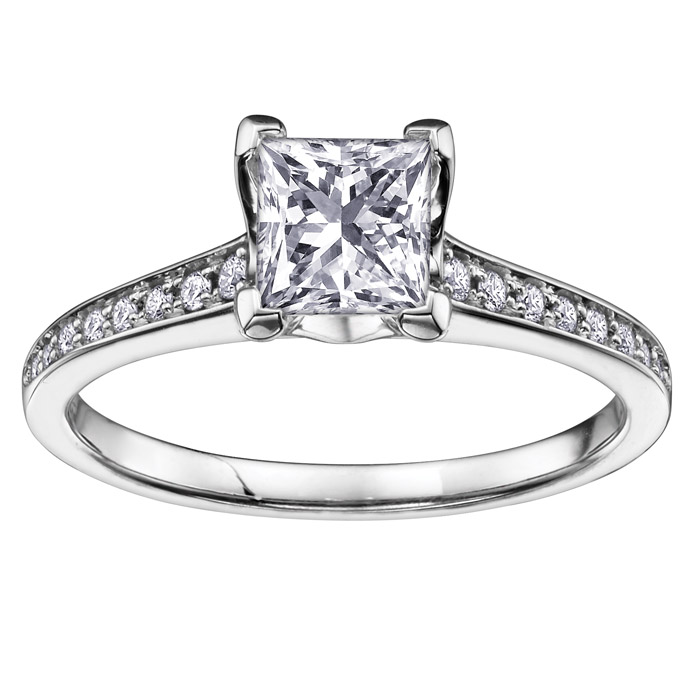 Éclat du Nord Engagement ring - 10K white Gold & Diamonds T.W. 0.25 Carat