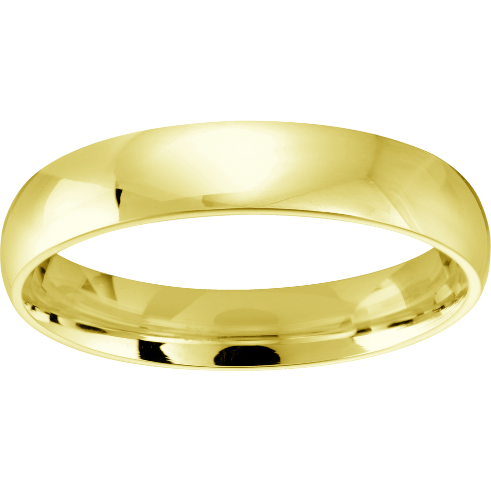 *Free engraving ...Comfort band for woman - 10K yellow Gold