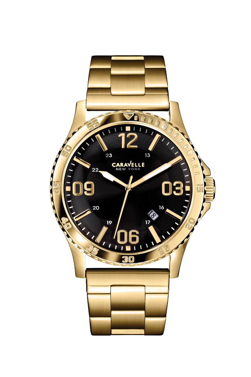 New York watch for men - Yellow gold-tone stainless steel.