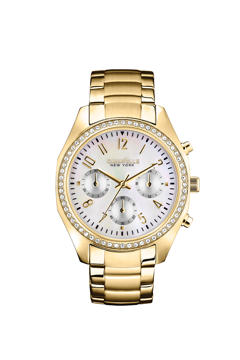 New York watch for women - Yellow gold-tone stainless steel.