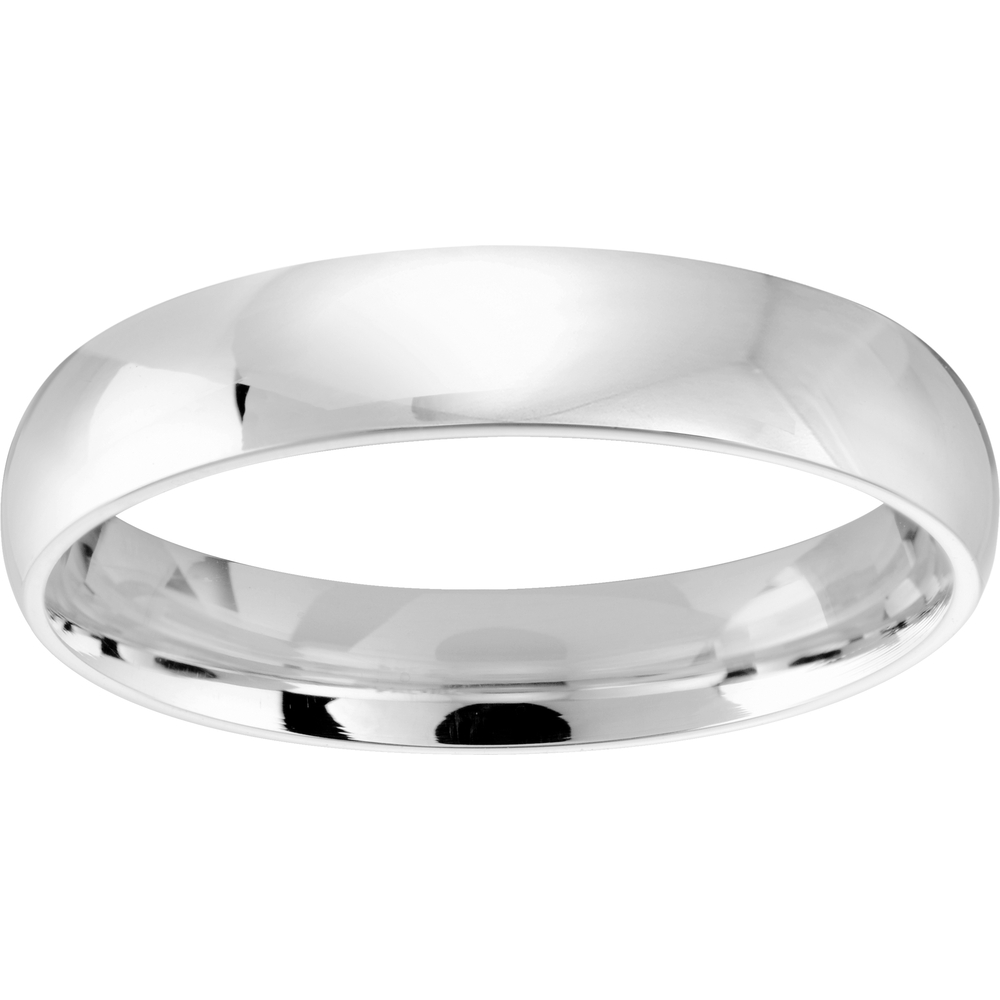 Comfort band for man - 10K white Gold