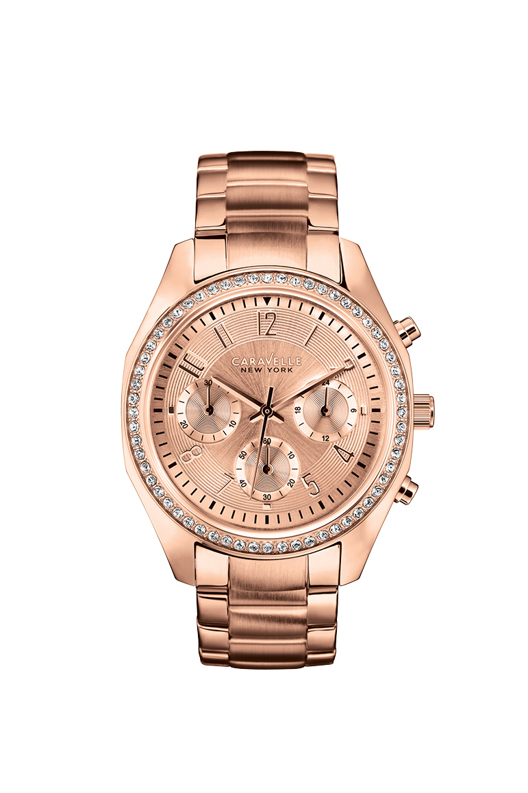 watch for women - Pink gold-tone stainless steel.