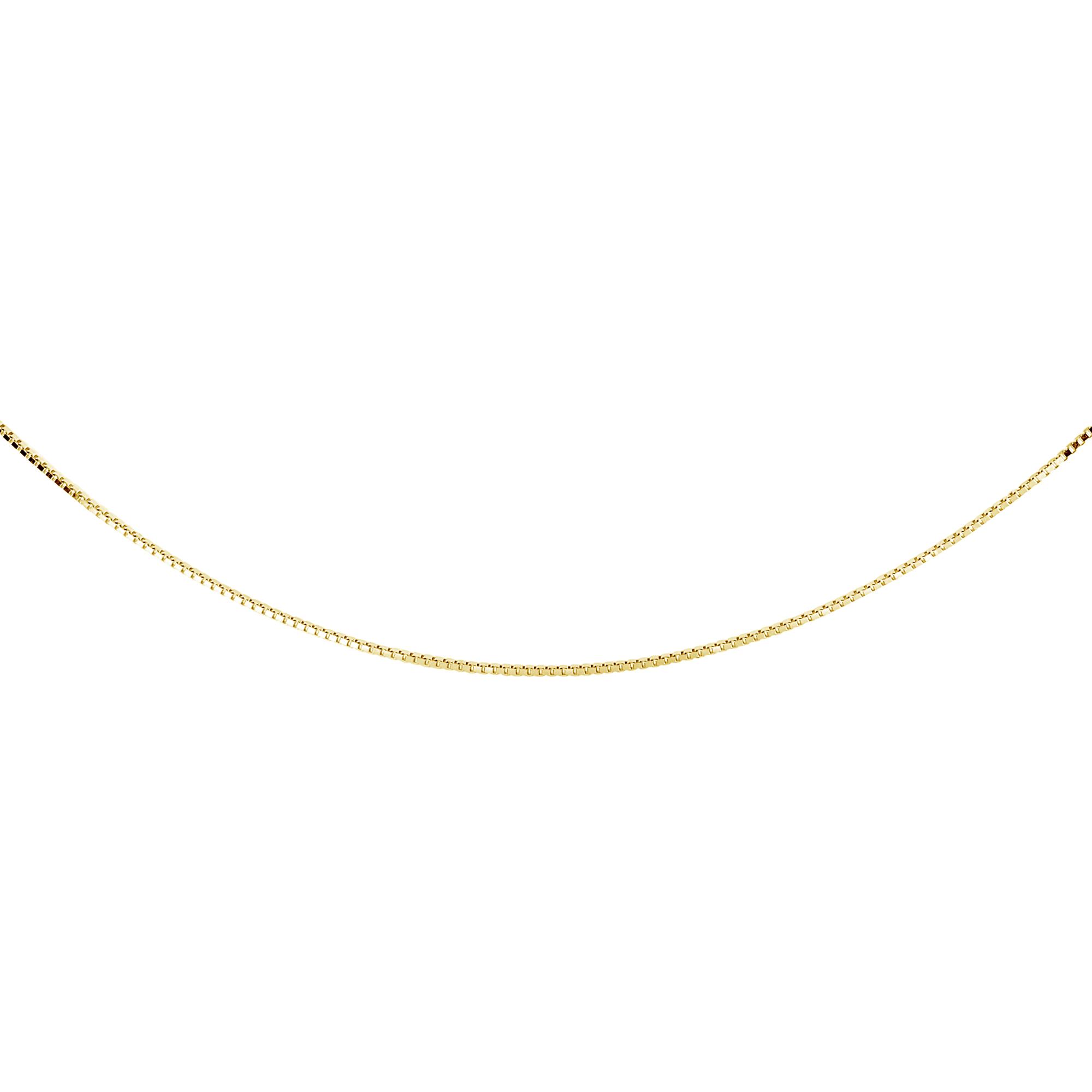 Chaîne Cubique 14'' pour enfant - Or jaune 10K