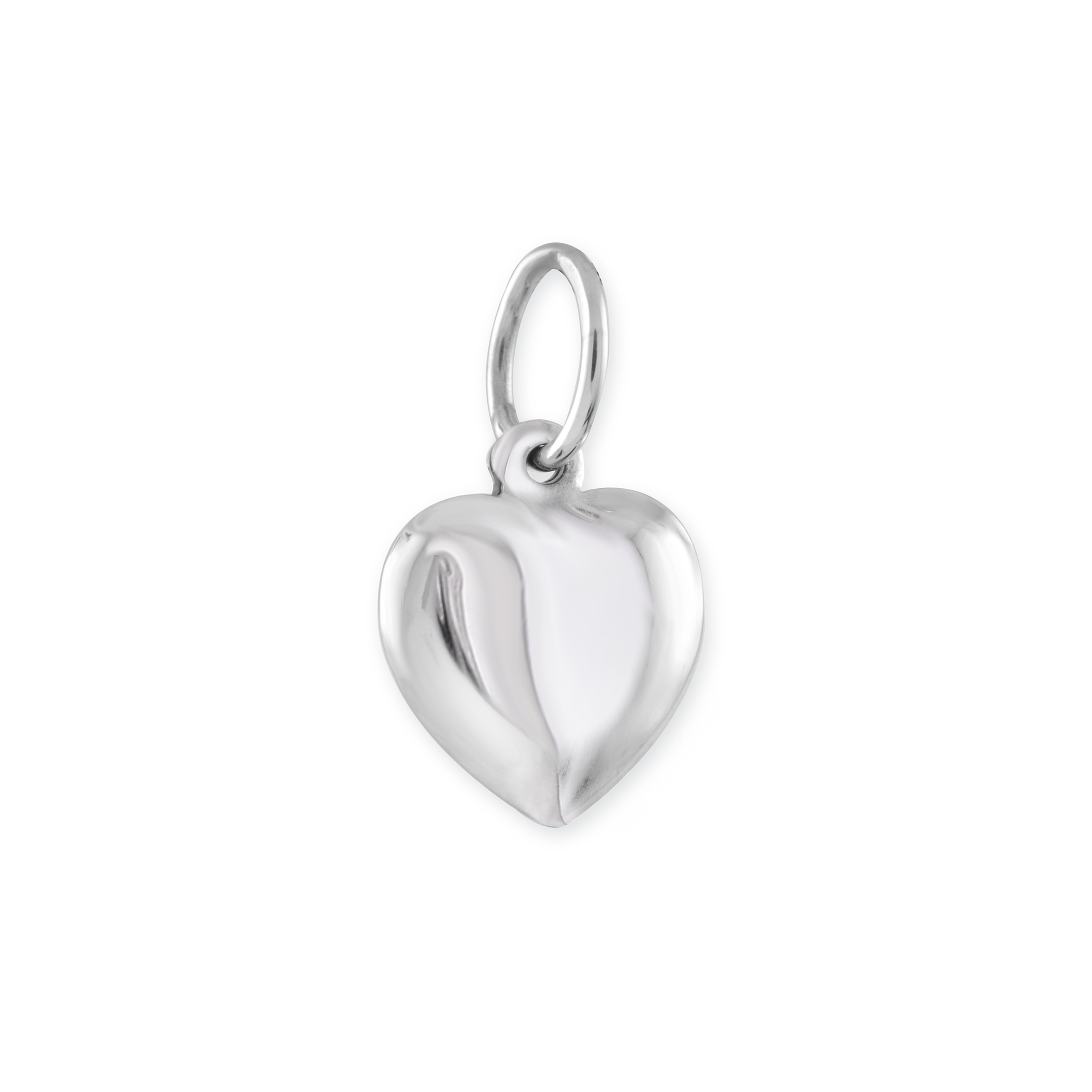 Heart pendant for children - 10K white Gold