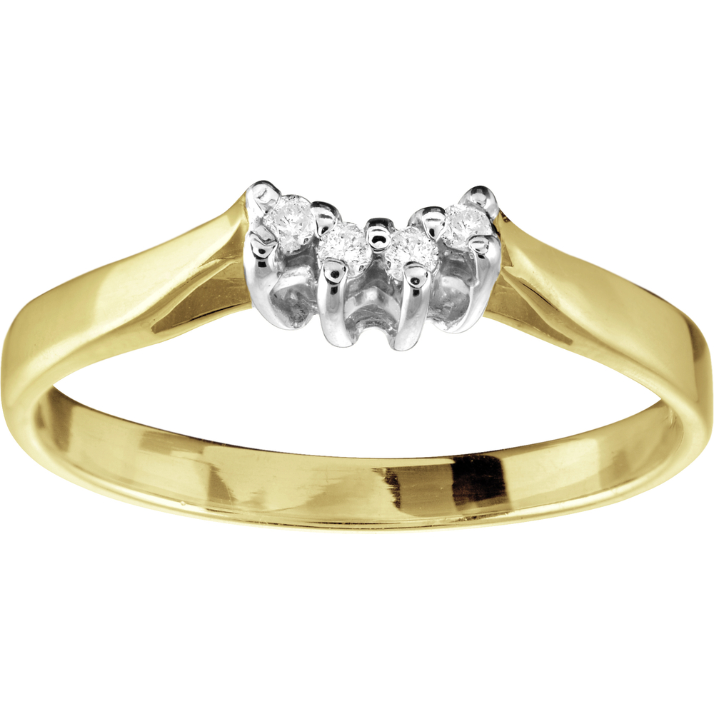 Wedding band - 10K yellow Gold & Diamonds 0.04 Carat T.W.