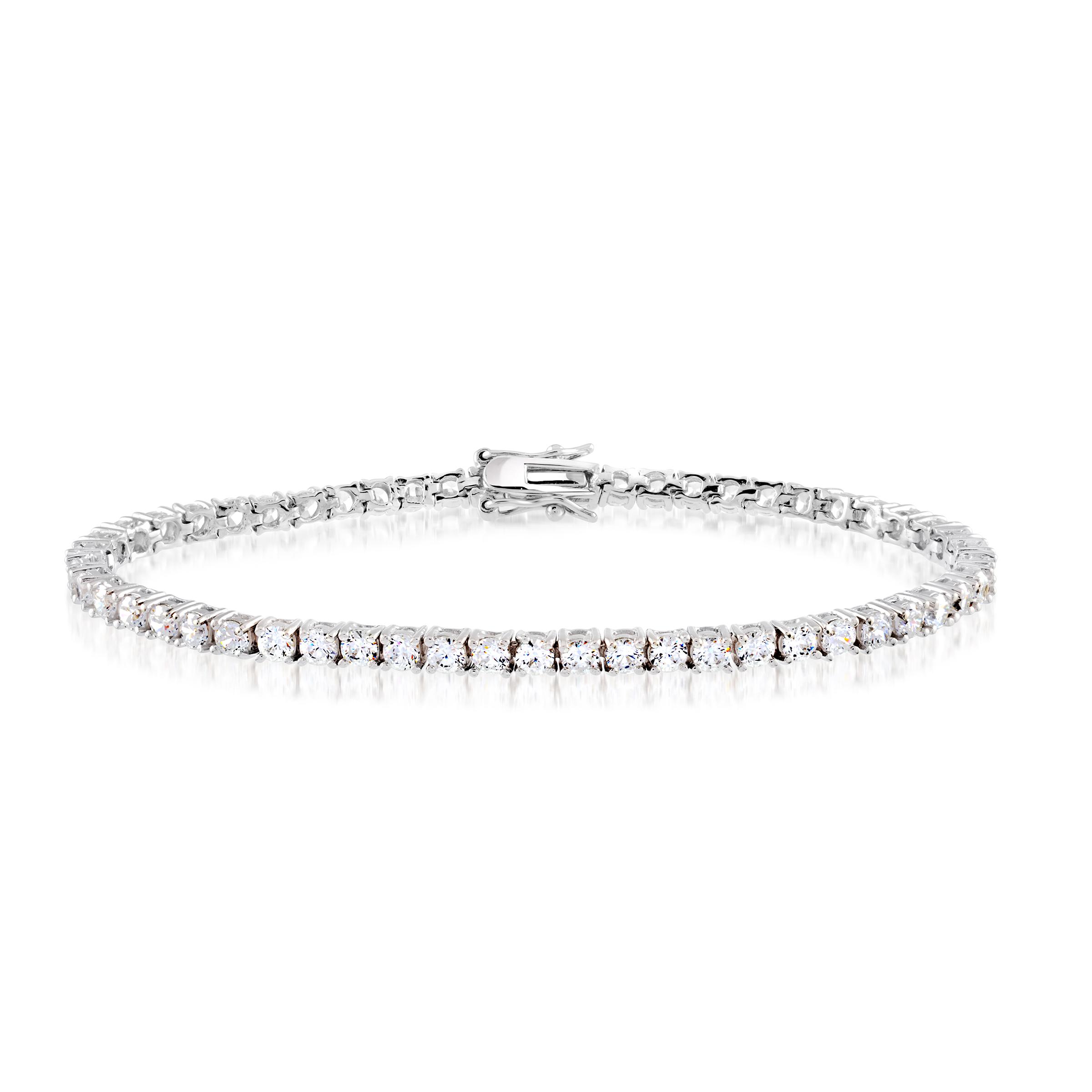 Bracelet tennis 7.25'' pour femme - Argent sterling & Zircons cubiques