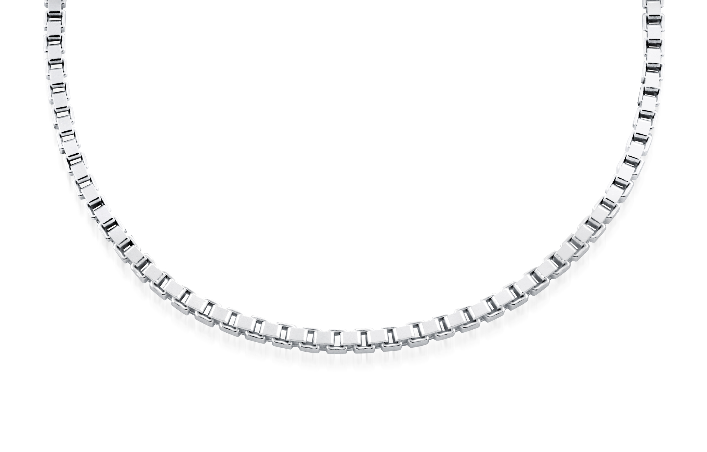 10'' Box ankle chain - Sterling silver