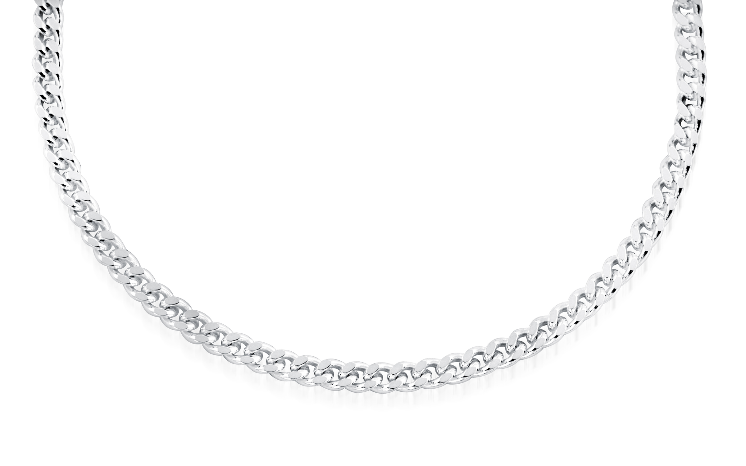 10'' Curb ankle chain for women - Sterling silver