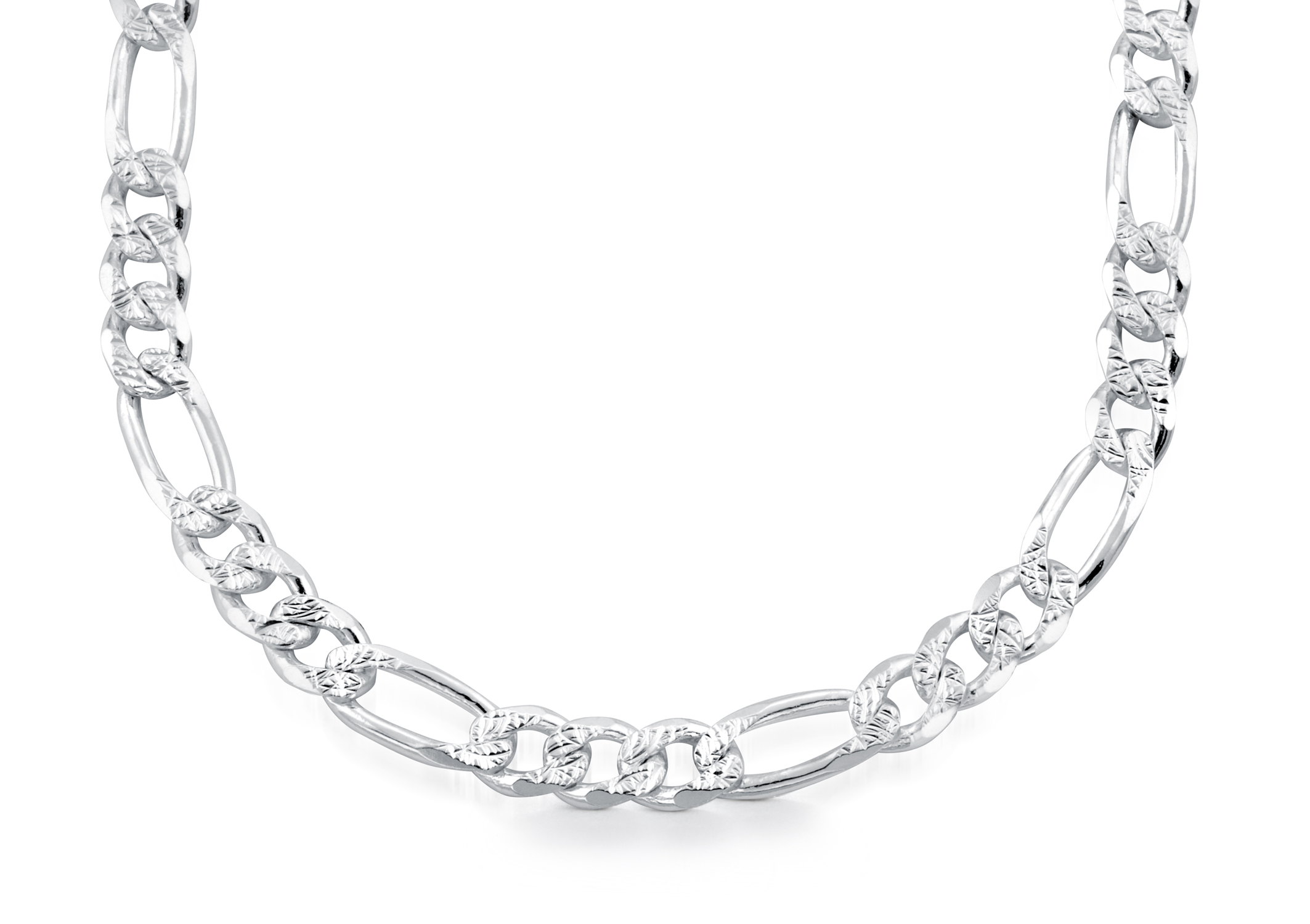 24'' Figaro chain for men - Sterling silver