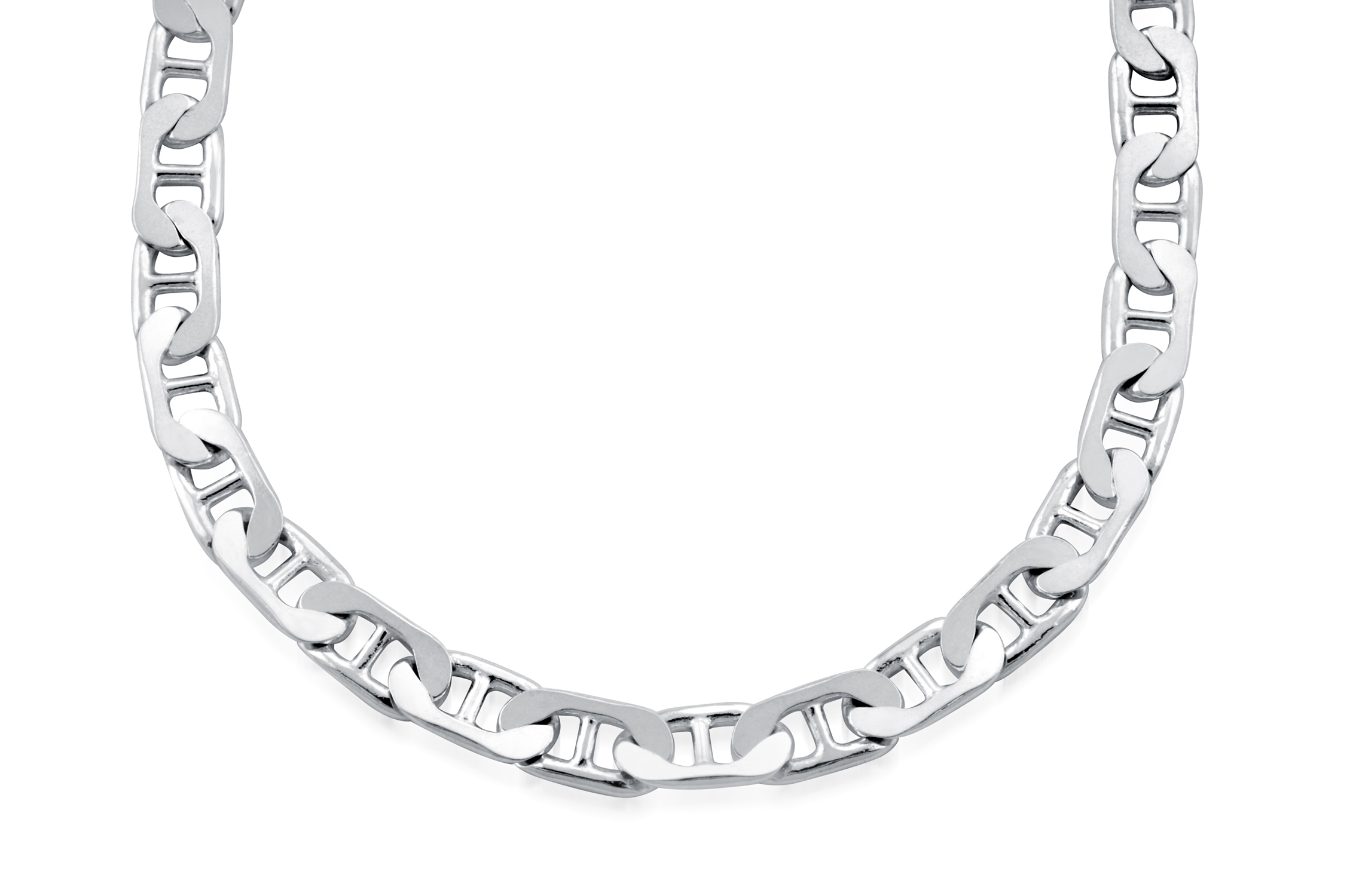 7'' Flat marina (Gucci style) bracelet for women  -  Sterling silver