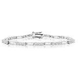 7'' Bracelet for women - Sterling silver & Cubic zirconia