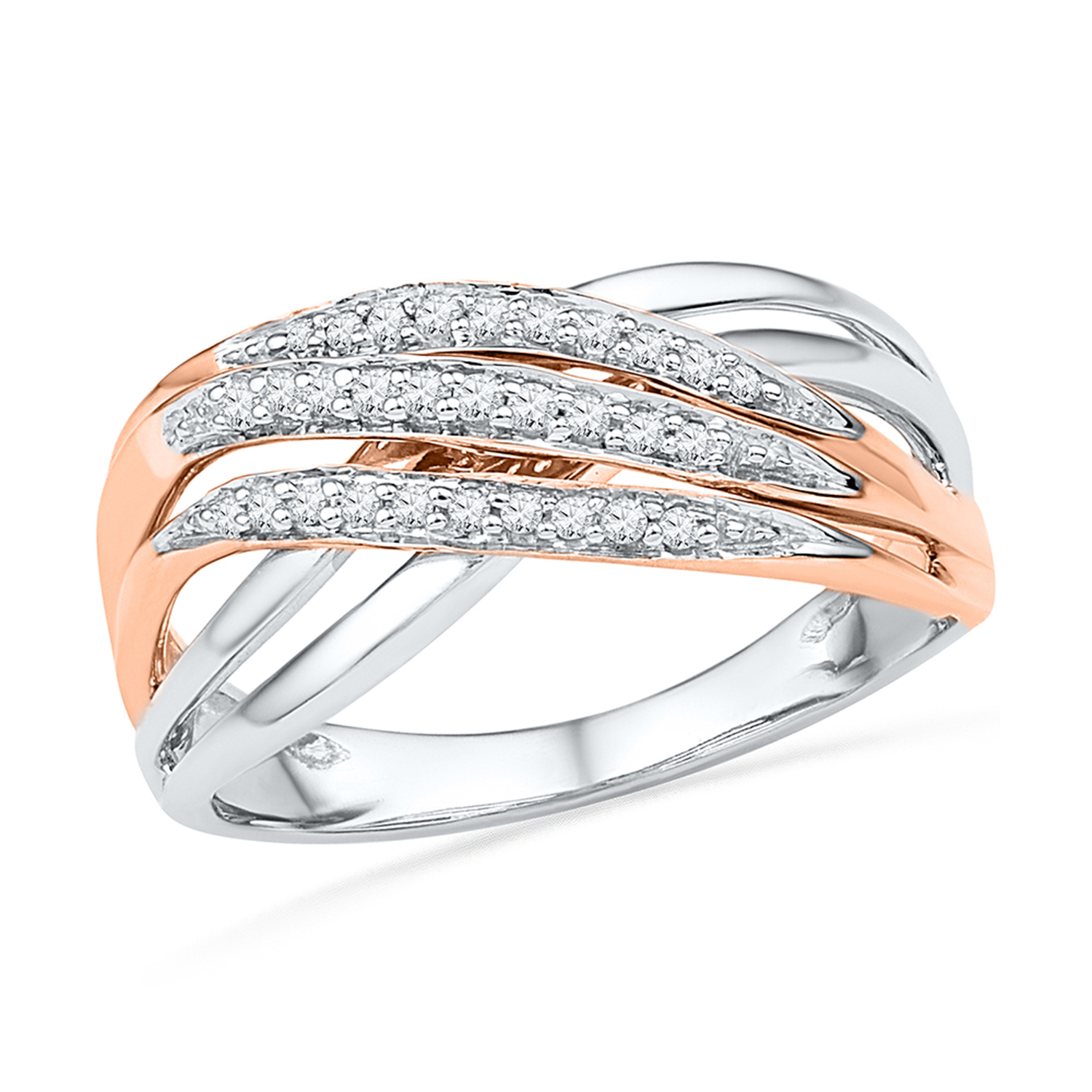 Ring for woman - 10K 2-tone Gold & Diamonds
