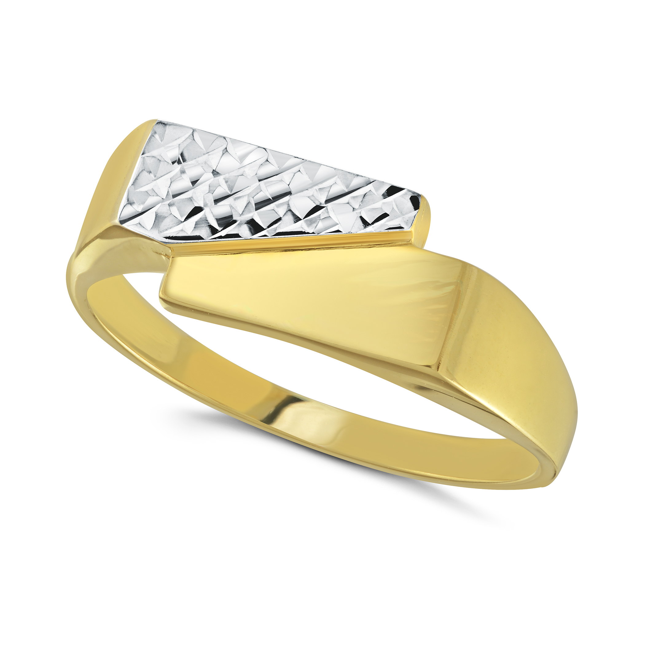 Boy's ring - 10K 2-tone Gold (yellow and white)